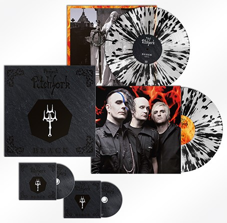 Project Pitchfork: BLACK (LIMITED CLEAR/BLACK SPLATTER) VINYL 2XLP + 2CD
